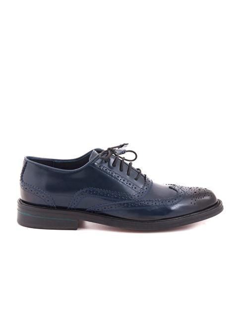 Kemal Tanca %100 Deri Oxford Ayakkabı Lacivert